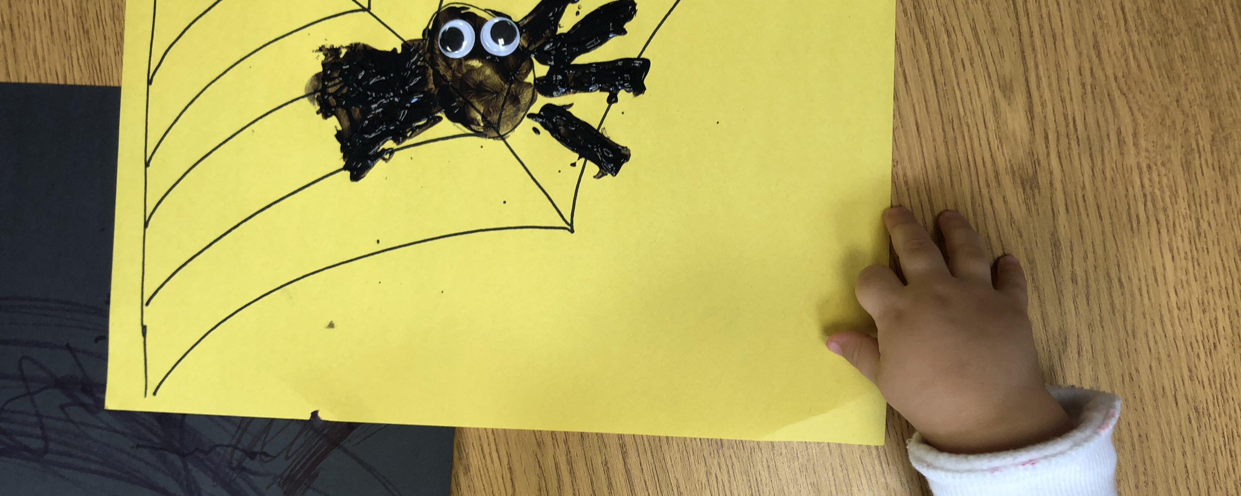 A Happy Spider craft