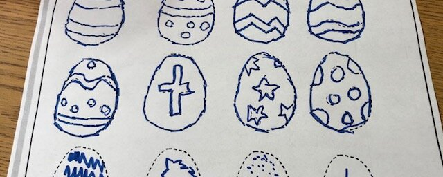 Easter egg tracing page